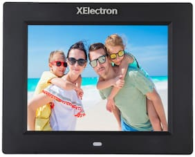 XElectron 8-inch ips display fully functional bis certified Digital Photo Frame - Black