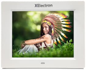XElectron 8 inch Digital Photo Frame - White
