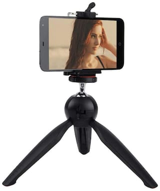 XH228 Mini Tripod with Universal Mobile Attachment Uses for Vlogging, Video Shooting, Photography
