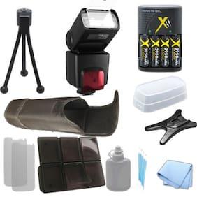 XIT XT700EX Flash, AA Rech Battery, Charger for Canon T5 T5i SL1 10D 20D, Kit