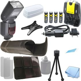XIT XTDF260C Flash, 4AA 3100 Mah Battery, Home/Car Charger Kit for Canon T5 T5i