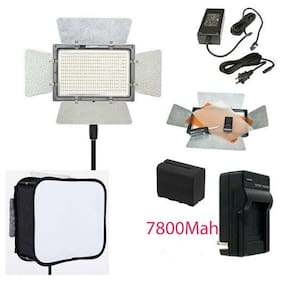 YONGNUO YN900 LED Video Light 3200 5500K PRO KIT Battery Softbox Charger AC adap