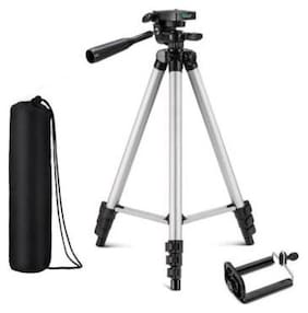 Yora Tripod Camera 3110 Mobile Universal Portable Foldable Professional Stand DSLR Video and Wildlife Photography (Silver)