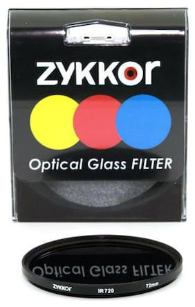 Zykkor 72mm Infrared Infra-Red IR 720nm X-Ray Filter lens for Camera Camcorders