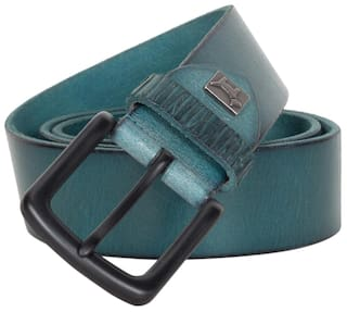 Pelpe Peacock Mens Solid Buff Leather Belts