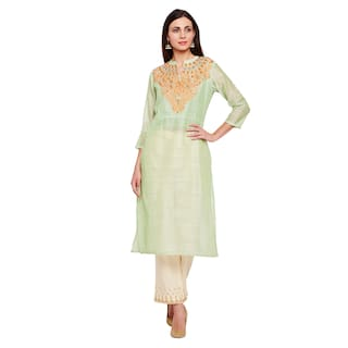 Be Indi Women Green Kurti