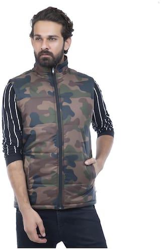 Burdy sleeveles solid men fancy jacket -Multi
