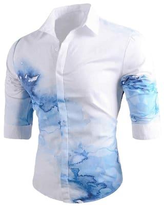 Button Up Tie Dye Long Sleeve Casual Shirt