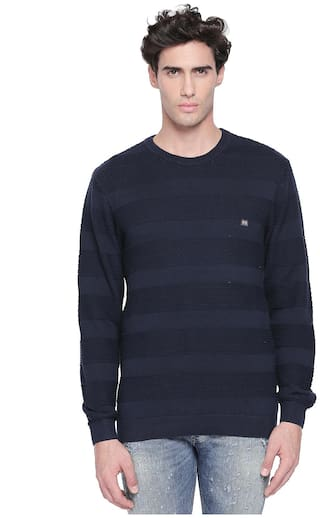 Byford by Pantaloons Men Sweater - Navy Blue