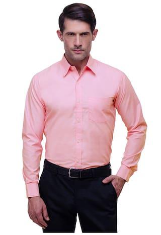 CHOKORE Executive Collection Cotton Flamingo Pink Formal Shirt