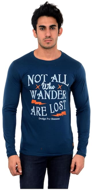 Dfh Blue T-shirt Full Sleeves