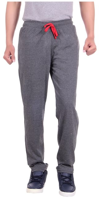 Dfh Dark Grey Men Track Pants