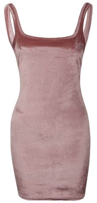 Female Sexy Velvet Sleeveless Bodycon Dress Cocktail Evening Mini Tight  Dress b38515d43