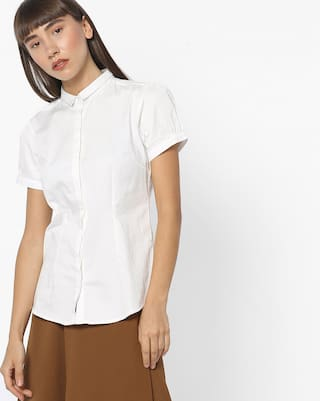 Fig By Reliance Trends White Casual Shirts