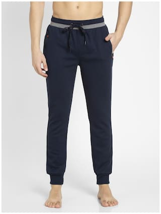 Jockey Men Navy blue Solid Slim fit Joggers