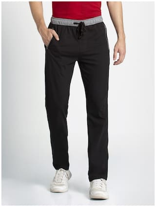 Jockey Men Black Solid Regular fit Track pants