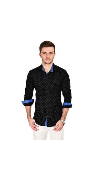 Kayadeals Men's Causal Black Shirt