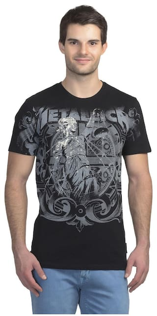 d3f008ca8 Buy Metallica Black Cotton T-Shirt Online at Low Prices in India ...