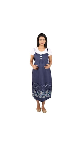 MomToBe Blue & White Maternity Dress