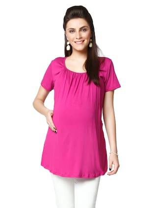 Nine Maternity Nursing Blouse In Orchid