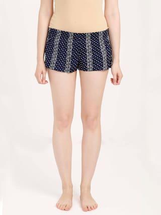 Olli Women Printed Regular shorts - Blue