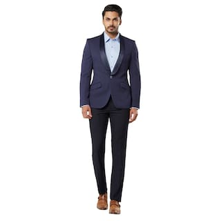 Raymond Solid Slim Fit Shawl Collar Full Sleeve Suits