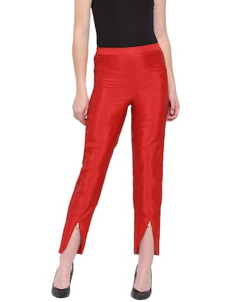 RIVI Maroon Womens Taffeta Tulip Trouser