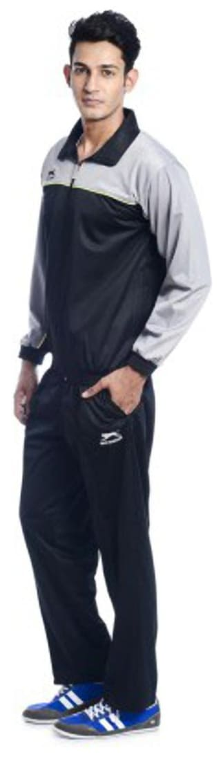 Shiv Naresh Solid Men's Track Suit;Style : Classic;Black