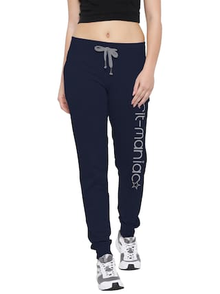 So Sweety Comfort & Dream Women Regular fit Cotton Printed Track pants - Navy