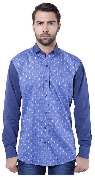 Tag & Trend Denim Blue Slim Fit Cotton Casual Shirt