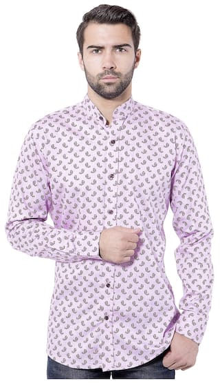 Tag & Trend Orchid Pink Slim Fit Cotton Casual Shirt