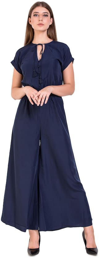 UVR Solid Jumpsuit - Blue