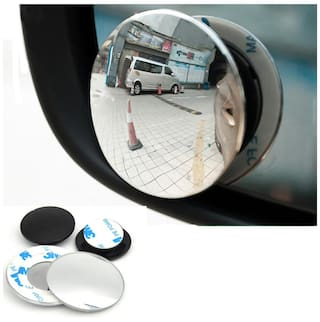 1 Pair 360 Degree Wide Angle Round Convex Blind Spot Rearview Mirror