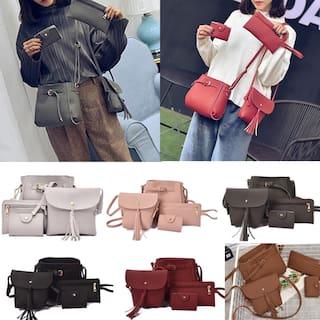 Women Solid Pu - Sling Bag Pink