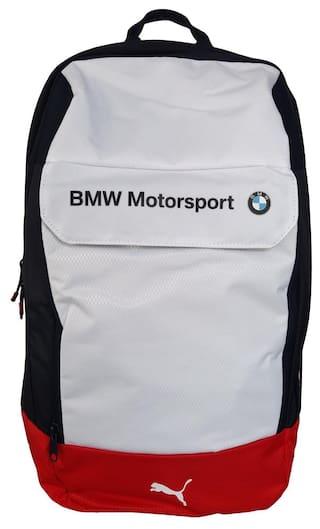 Buy Puma BMW Motorsport White and Red Laptop Backpack Online at Low ... 463098dda8