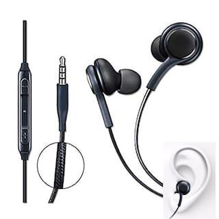 OnePlus 3T Compatible Ergonomic Design Black Nylon Wire  Earphone/Earphones Handsfree/Headphone High Bass Super Sound With Calling Microphone By MATT PIE.