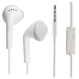 OPPO F1s  Compatible In Ear Original White Handsfree Earphone/Earphones Headphone with Clear Stereo Sound & calling Microphone By MATT PIE.