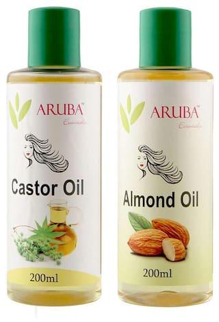 Aruba Essentials Castor & Almond Oil Each 200 ml