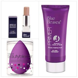 Blue Heaven Combo of Uhd Makeup Concealer Stick Beauty Blender And Primer