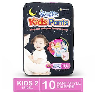 MamyPoko Kids Pants, Diaper for Girls above 2 years , Pack of 10 diapers. (Kids 2 - 10)