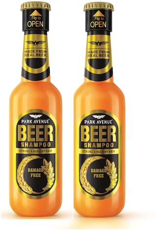 Park Avenue Damage Free Hair Beer Shampoo for Men, 180ml (Pack of 2)