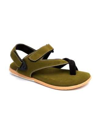 Aeonik Green Casual Sandals for Men