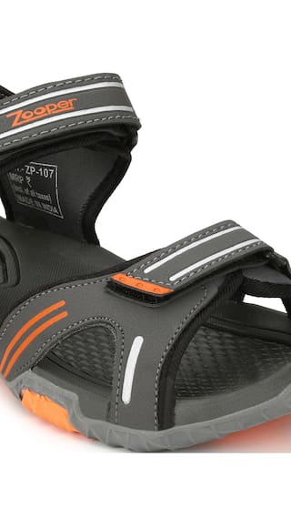 067d74a4f089 Buy Afrojack Men s Grey Sports Sandals Online at Low Prices in India ...