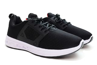 AXYNYS Men Black Running Shoes