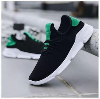 Biggie Men's Flex Exprerience 9 Black Running Shoes