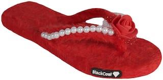 BlackCoal Womens falt slippers Girls home casual flip flops for home WOH73