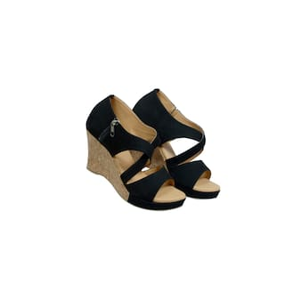 D. TOX FOOTWEAR Women Black Wedges