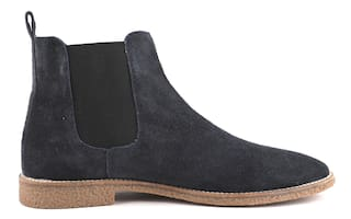 Freacksters Suede Leather Chelsea Boots For Men (Blue)