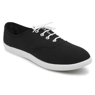 FUEL Women Girl's Fashionable Trendy Black Comfortable Laced up Solid Casual Bellies Shoes