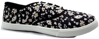 FUEL Women's Girls Fashion Trendy Printed Flower Laced Up Casual Bellies Sneakers Shoes